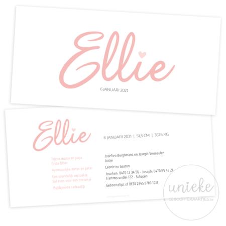 Geboortekaartje van Ellie