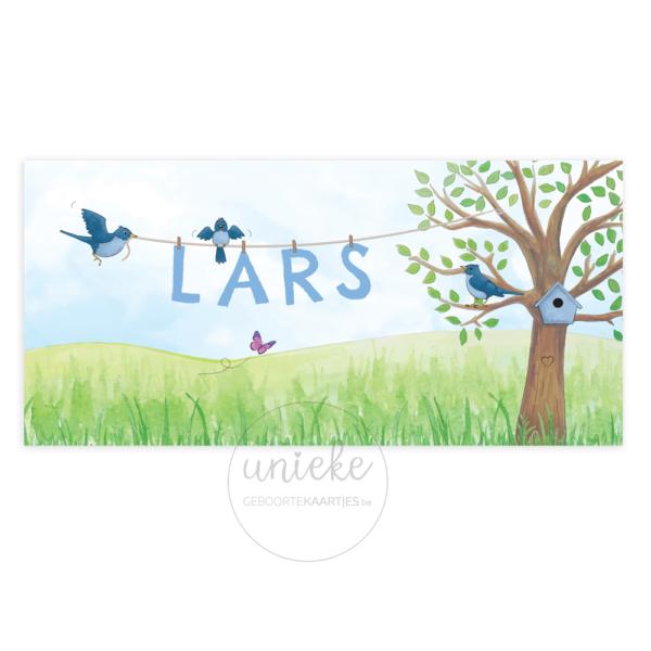Voorkant van het kaartje van Lars