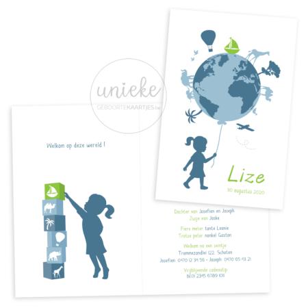 Geboortekaartje van Lize
