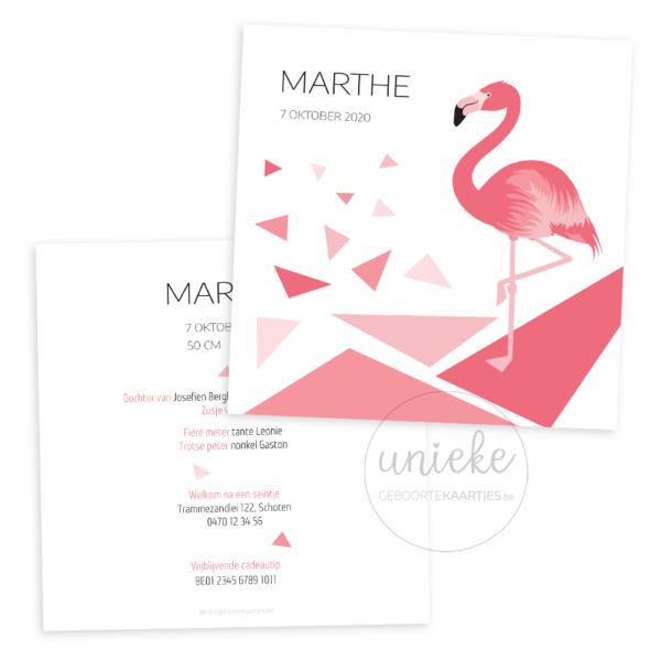 Geboortekaartje van Marthe