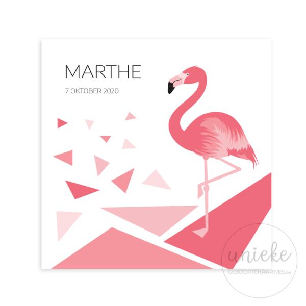 Voorkant van het kaartje van Marthe