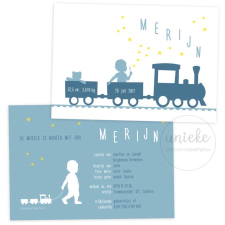 Geboortekaartje van Merijn