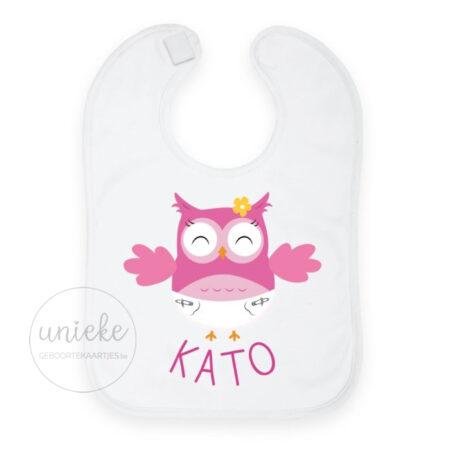 Slabbetje passend bij het kaartje van Kato