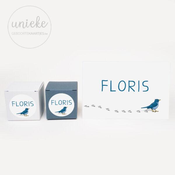 Stickertje passend bij het kaartje van Floris