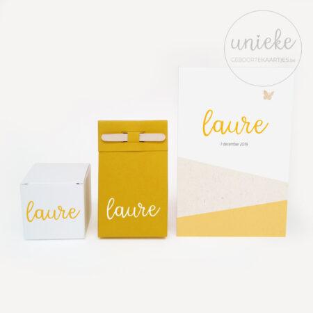 Vinylsticker passend bij het kaartje van Laure
