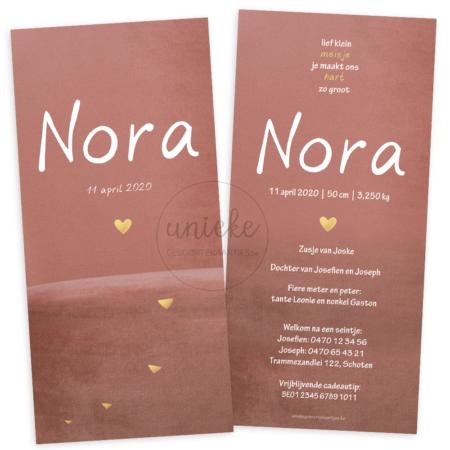 Geboortekaartje van Nora