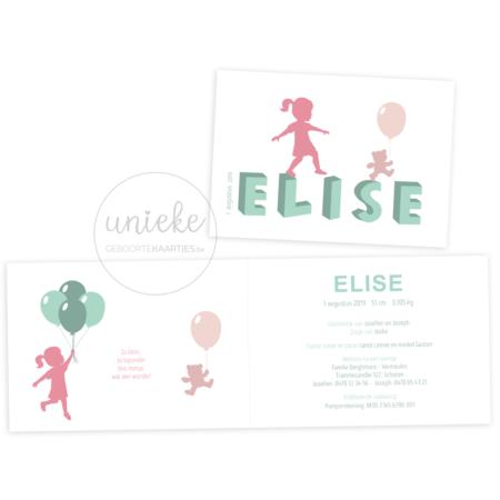 Geboortekaartje van Elise