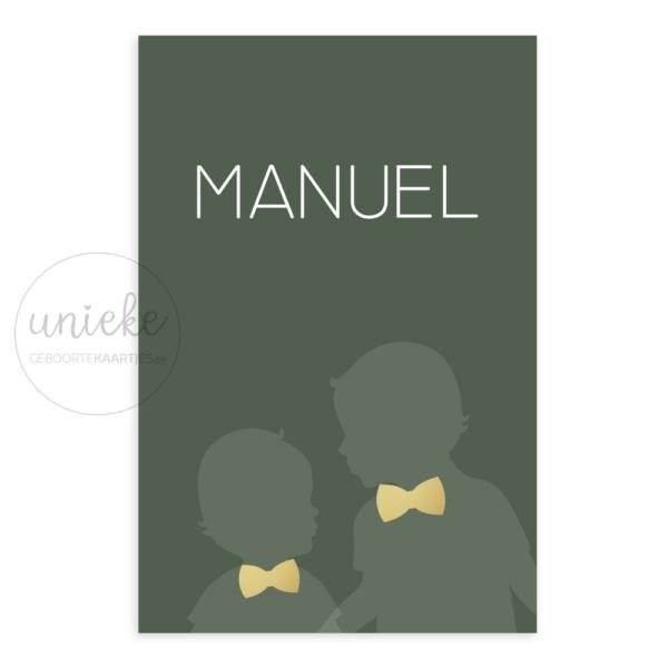 Geboortekaartje Manuel Voorkant