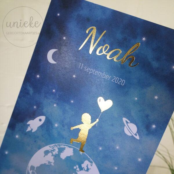 Detail van geboortekaartje Noah
