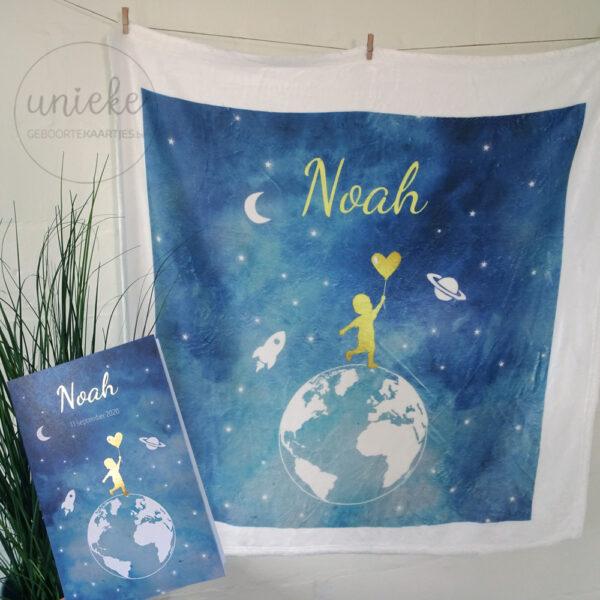 Dekentje van Noah met kaartje