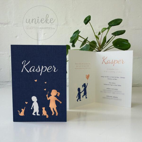 Foto van het kaartje van Kasper