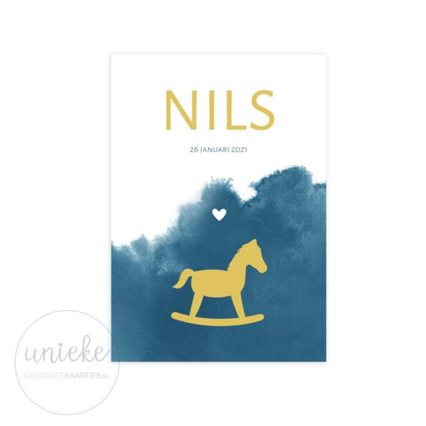 Voorkant van het kaartje van Nils