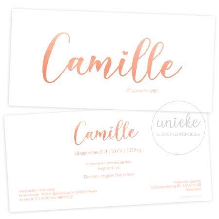 Geboortekaartje van Camille