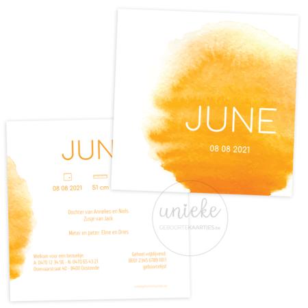 Geboortekaartje van June