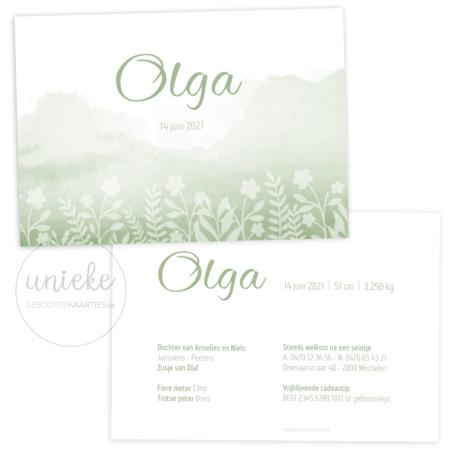 Geboortekaartje van Olga