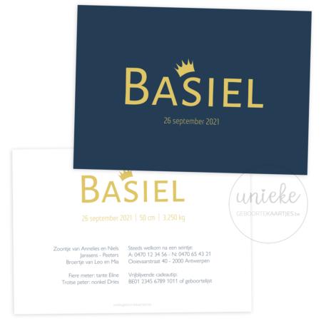 Geboortekaartje van Basiel