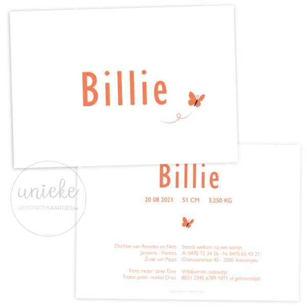 Geboortekaartje van Billie