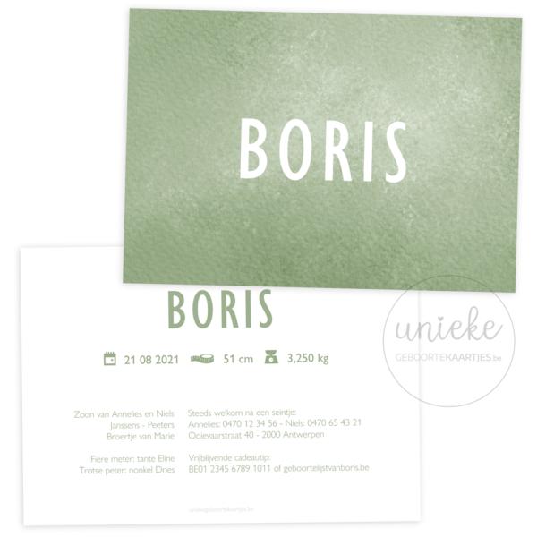 Geboortekaartje van Boris