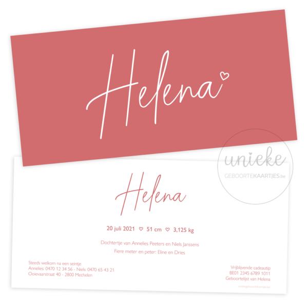 Geboortekaartje van Helena