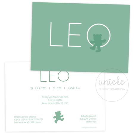 Geboortekaartje van Leo