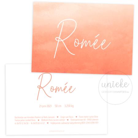 Geboortekaartje van Romée